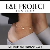 E and E PROJECT Star Casual Style Chain Silver Anklets