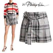 3.1 Phillip Lim Short Other Check Patterns Casual Style Wool Shorts