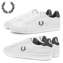 FRED PERRY Street Style Leather Sneakers
