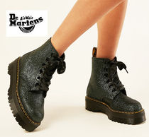 Dr Martens MOLLY Round Toe Casual Style Street Style Mid Heel Boots