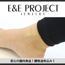 E and E PROJECT Casual Style Chain Silver Anklets