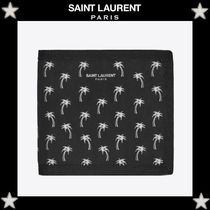 Saint Laurent Tropical Patterns Nylon Street Style Folding Wallets