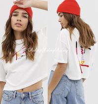 Tommy Hilfiger Crew Neck Short Cotton Short Sleeves Cropped