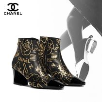 CHANEL Flower Patterns Casual Style Blended Fabrics Street Style