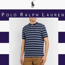 POLO RALPH LAUREN Pullovers Stripes Henry Neck Cotton Short Sleeves