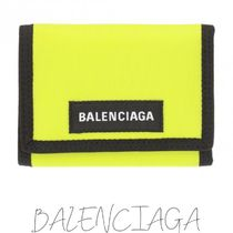 BALENCIAGA Unisex Nylon Street Style Plain Folding Wallets