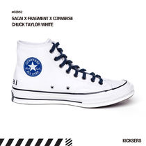 sacai Star Plain Toe Lace-up Casual Style Street Style