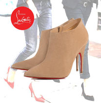 Christian Louboutin Plain Leather Pin Heels Ankle & Booties Boots