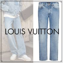 Louis Vuitton Denim Blended Fabrics Street Style Plain Jeans