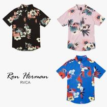 Ron Herman Flower Patterns Street Style Short Sleeves Shirts