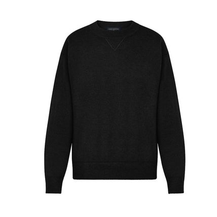 Louis Vuitton Knits & Sweaters Crew Neck Pullovers Cashmere Blended Fabrics Street Style 6