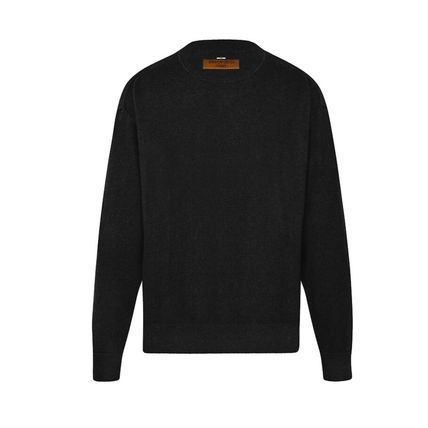 Louis Vuitton Knits & Sweaters Crew Neck Pullovers Cashmere Blended Fabrics Street Style 8