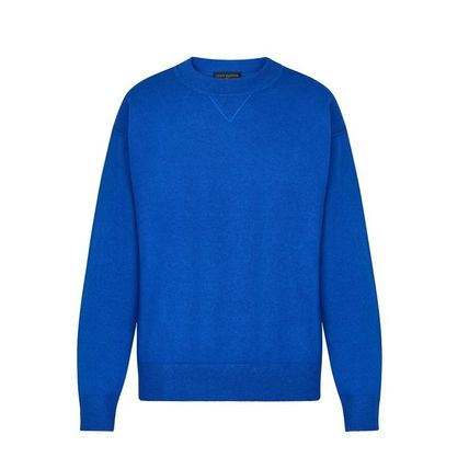 Louis Vuitton Knits & Sweaters Crew Neck Pullovers Cashmere Blended Fabrics Street Style 9