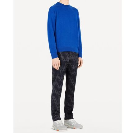Louis Vuitton Knits & Sweaters Crew Neck Pullovers Cashmere Blended Fabrics Street Style 11