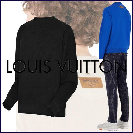 Louis Vuitton Knits & Sweaters Crew Neck Pullovers Cashmere Blended Fabrics Street Style