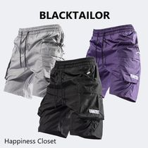BLACKTAILOR Nylon Plain Cargo Shorts