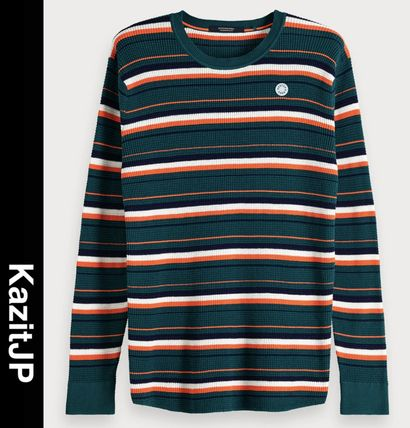 Stripes Street Style Long Sleeves Knits & Sweaters