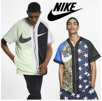 Nike Camouflage Street Style V-Neck Short Sleeves V-Neck T-Shirts