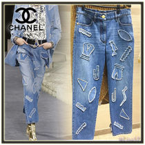 CHANEL Denim Long Jeans
