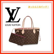 Louis Vuitton Monogram Casual Style Bag in Bag A4 Leather Totes