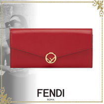 FENDI Leather Long Wallets