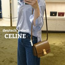 CELINE Classic 2WAY Leather Elegant Style Crossbody Shoulder Bags