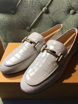 TOD'S Plain Toe Plain Other Animal Patterns Leather Office Style