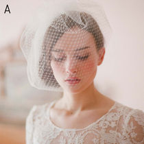 Blended Fabrics Plain Lace Wedding Accessories