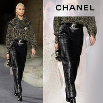 CHANEL Other Animal Patterns Leather Leather & Faux Leather Pants