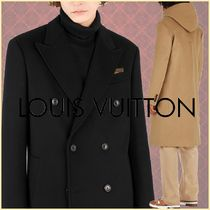 Louis Vuitton Wool Blended Fabrics Plain Long Coats