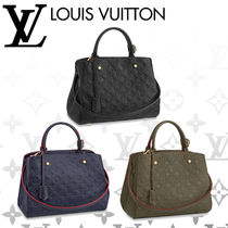 Louis Vuitton MONTAIGNE Monogram Blended Fabrics Studded A4 2WAY Leather