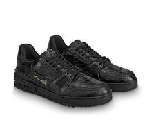 Louis Vuitton Unisex Street Style Other Animal Patterns Leather Sneakers