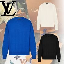 Louis Vuitton Crew Neck Cashmere Long Sleeves Knits & Sweaters
