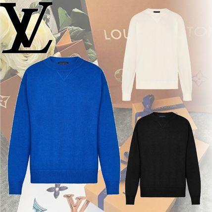 Louis Vuitton Knits & Sweaters Crew Neck Cashmere Long Sleeves Knits & Sweaters