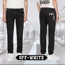 Off-White Plain Jeans & Denim