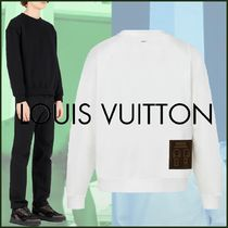 Louis Vuitton Crew Neck Pullovers Blended Fabrics Street Style