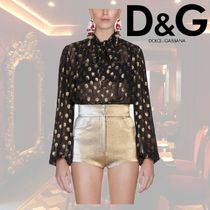 Dolce & Gabbana DOLCE Silk Street Style Long Sleeves Elegant Style