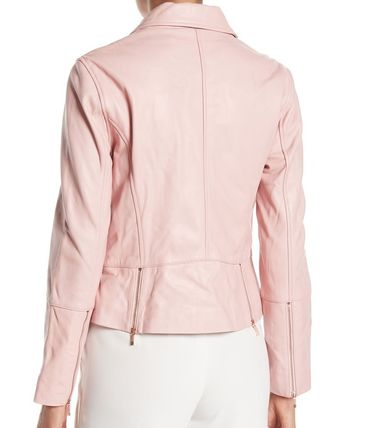 new collection official supplier enjoy complimentary shipping TED BAKER Short Street Style Plain Leather Biker Jackets