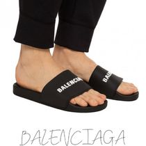 BALENCIAGA Unisex Street Style Plain Shower Shoes Shower Sandals