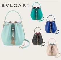 Bvlgari 2WAY Plain Other Animal Patterns Leather Purses