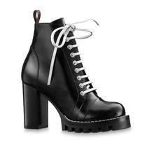 Louis Vuitton Lace-up Casual Style Leather Ankle & Booties Boots