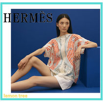 HERMES Silk Short Sleeves T-Shirts