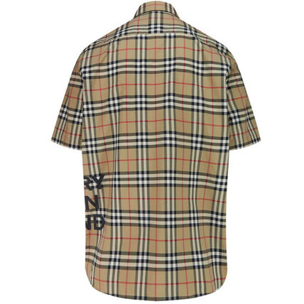 Burberry Shirts Button-down Other Check Patterns Cotton Short Sleeves 4