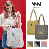 WV PROJECT Unisex Street Style Plain Totes