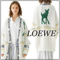LOEWE Long Sleeves Long Angola Logos on the Sleeves Knitwear
