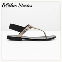 & Other Stories Open Toe Casual Style Leather Python Sandals Sandal