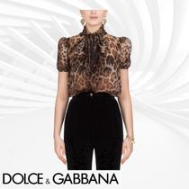 Dolce & Gabbana Leopard Patterns Short Sleeves Shirts & Blouses