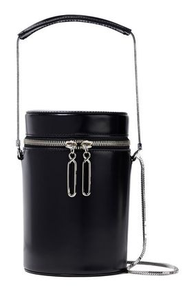 Casual Style 2WAY Chain Plain Leather Crossbody