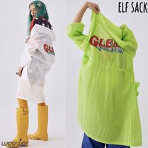 ELF SACK Casual Style Nylon Street Style Plain Medium Oversized