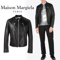 Maison Martin Margiela Short Street Style Plain Leather Biker Jackets